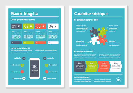 collection number: Modern business infographic brochure template. Vector illustration. Part of collection number 4.