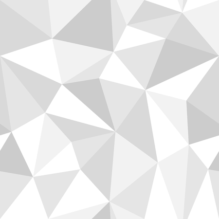 Seamless geometric pattern from triangles. Monochrome gray style ready to change color. Иллюстрация