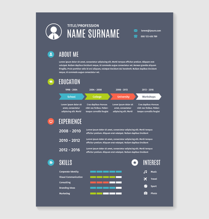 resume cv a4 letter. Modern business template document.