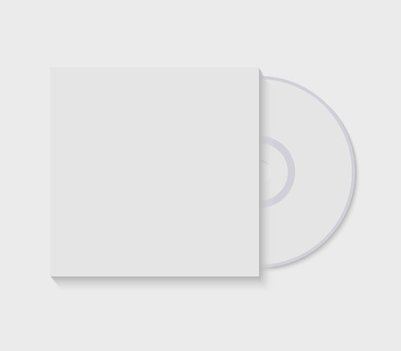 vector illustration cd with blank cover template isolated on