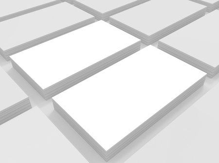 blank business card: Blank business card on gray background. Template mockup for promotion of Corporate identity.