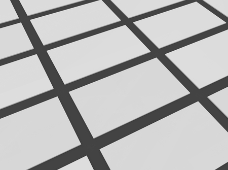 shadows: Blank business cards in pattern. Empty template mock-up.