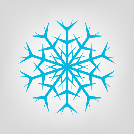 Snowflake graphic vector Icon. Blue frosty illustration.