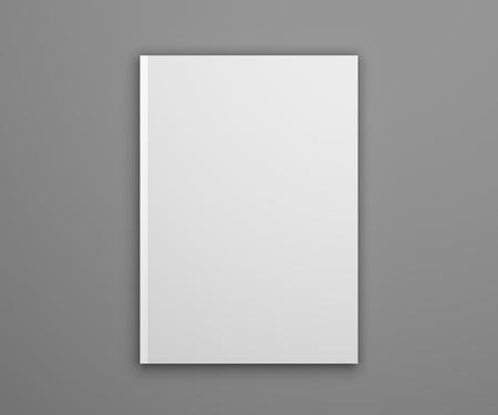 Notepad mockup on gray. Photorealistic 3D illustration mock-up. Standard-Bild