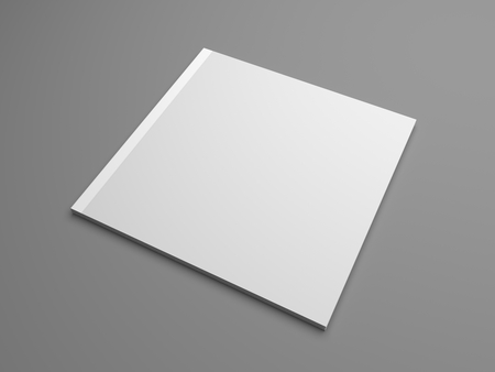 Square 3D illustration brochure cover mock-up Standard-Bild