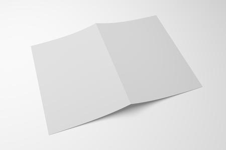 Blank 3D illustration opened magazine mockup showing cover.