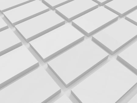 Blank 3D illustration template business cards mock-up Standard-Bild