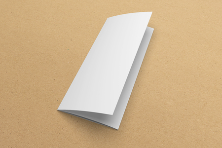 Blank 3D rendering tri-fold brochure mock-up with clipping path on texture No. 3 Standard-Bild