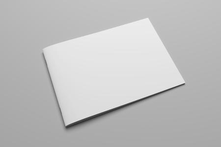 Magazine de brochure de rendu 3D vierge sur gris avec un tracé de détourage n ° 8 Banque d'images - 80823134