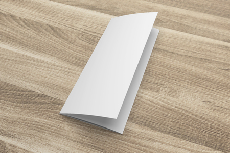 Blank 3D-Rendering Dreifach-Broschüre Mock-up Mit Beschneidungspfad ...