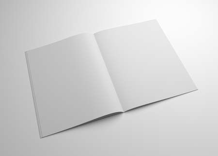 Blank 3D illustration brochure mockup. Stock fotó