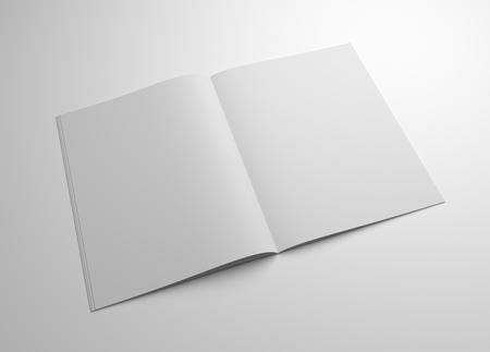 Blank 3D illustration brochure mockup. Stock Photo