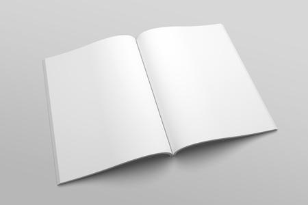 US Letter magazine or brochure 3D illustration mockup No. 3 Standard-Bild