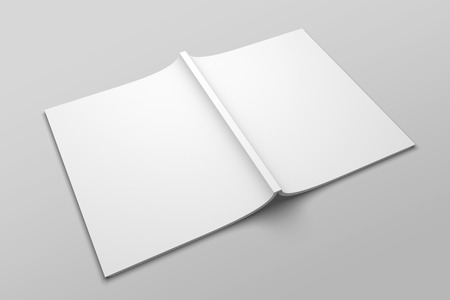 US Letter magazine or brochure 3D illustration mockup No. 6