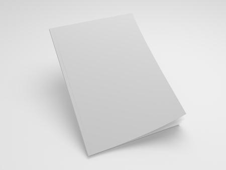 Magazin 3D-Illustration Mockup Standard-Bild - 83339517
