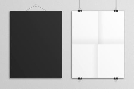 Leere 3D-Darstellung S Buchstaben Poster Mock up . Standard-Bild - 83339521