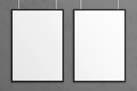 Blank 3D Illustration Poster Mockup mit Rahmen. Standard-Bild - 83339522