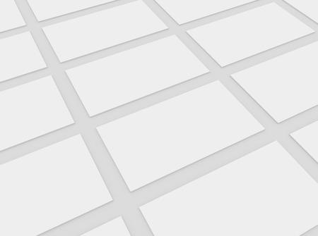 Blank business cards mock-up Standard-Bild