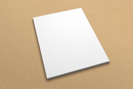 Modell der Broschüren-Illustration 3D auf Recyclingpapierbeschaffenheit Nr. 4 Standard-Bild - 83596772