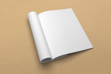 Brochure 3D illustration mockup on recycled paper texture No. 2 Standard-Bild