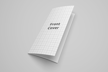 Dreifachgefaltete Broschüre des US-Buchstabens 3D-Modell mit Gitter Nr. 3 Standard-Bild - 83848709
