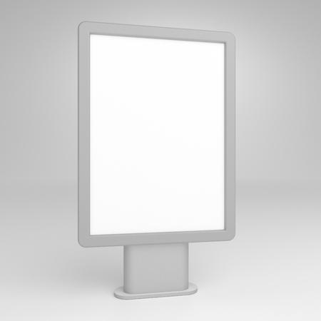 Blank 3D illustration city light mock-up.