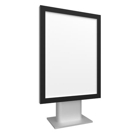 Blank 3D illustration city light with black frame mock-up. Standard-Bild