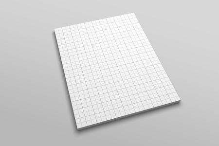 US Letter magazine or brochure 3D illustration mockup with grid No. 4 Standard-Bild