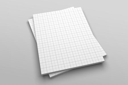 Illustrationsmodell des US-Briefmagazins oder der Broschüre 3D mit Gitter Nr. 5 Standard-Bild - 85576784