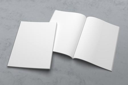 Illustrationsmodell der US-Briefzeitschrift oder -broschüre 3D auf Beschaffenheit Nr. 1 Standard-Bild - 89710019