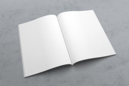 Illustrationsmodell der US-Briefzeitschrift oder -broschüre 3D auf Beschaffenheit Nr. 3 Standard-Bild - 90393953