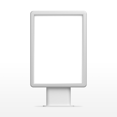 Empty white 3D illustration light box, citylight or display mockup 免版税图像
