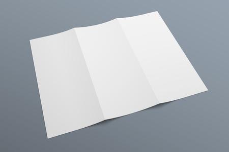 Dreifachgefaltete Broschüre 3D-Darstellungsmodell Nr. 5 Standard-Bild - 89995667