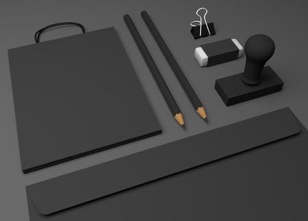 Leere Einkaufstasche 3D-Darstellung Mockup Standard-Bild - 90304645