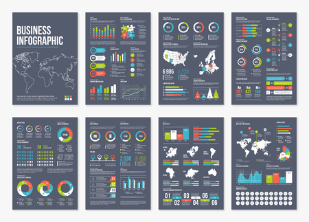 Vector infographic A4 brochure elements.