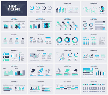 Multipurpose presentation vector template infographic.
