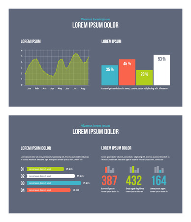 Business infographic presentation slides template No. 9. Editable vector elements.