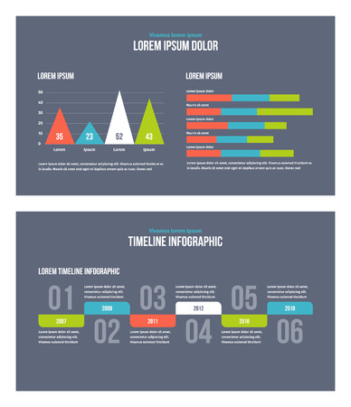 Business infographic presentation slides template No. 11. Editable vector elements.