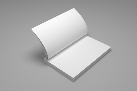 Blank opened book mock-up. 3D illustration of book mockup. 免版税图像