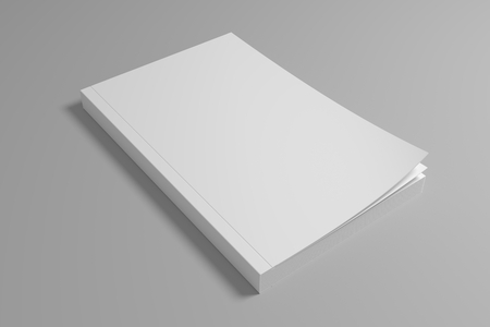 Blank soft cover book mockup. 3D rendering mock-up.