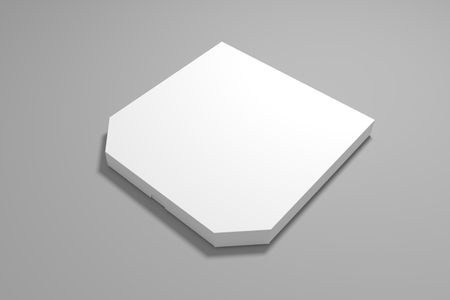 3d illustration pizza box mockup. Blank packaging box mock up.