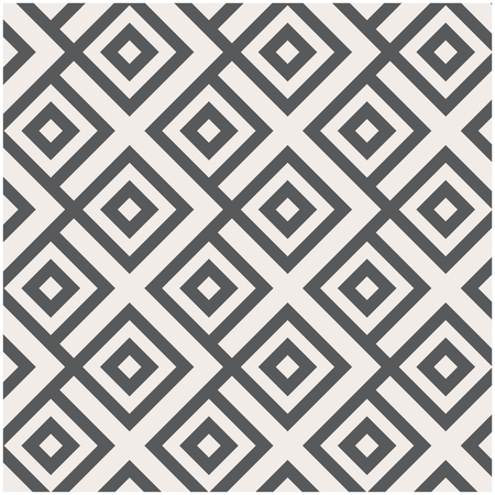 diamond shape: Vector pattern, repeating linear square diamond shape, stylish geometric monochrome Illustration