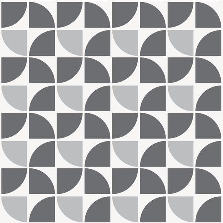 반복 4 분의 1 원형 패턴, 기하학적 패턴. 패턴이 견본 패널에 있습니다. 일러스트