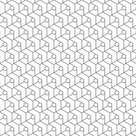 geometric vector pattern, repeating linear square and chevrons. pattern is on swatch panel Illustration