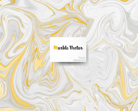 Carrara golden creamy white marble with golden texture on surface vector illustration.