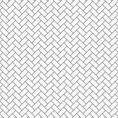 Herringbone pattern. Rectangles slabs tessellation. Seamless surface design with white slant blocks tiling. Floor cladding bricks. Repeated tiles ornament background. Mosaic motif. Pavement wallpaper