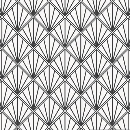 Motivo japonés moderno. Fondo de teselación de triángulos entrelazados. Imagen con vieiras repetidas. Escamas de pescado. el patrón está en el panel de muestras