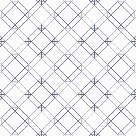 geometric vector pattern, repeating linear square and diamond shape with cross at each corner. pattern is on swatches panel