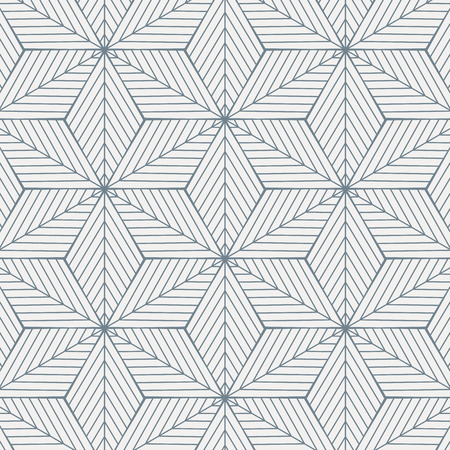 Geometric vector pattern, repeating linear diagonal angle on rhombus shape connected each, abstract star, flower. Graphic clean for fabric, wallpaper, paint background. Pattern is on swatches panel. Ilustração
