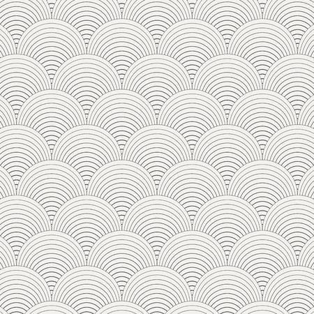seamless monochrome wave pattern.